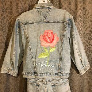 Tommy Hilfiger Jean Jacket & Pants Set w/ Roses
